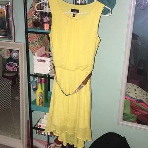 High low yellow dress
